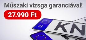 Műszaki vizsga garanciával: 27.990 Ft